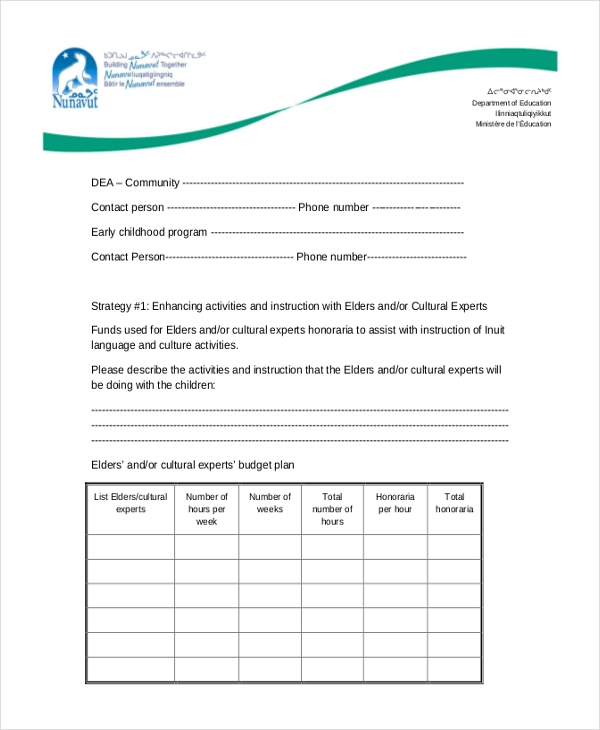 proposed use of funds grant application