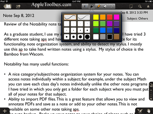 web based note taking application