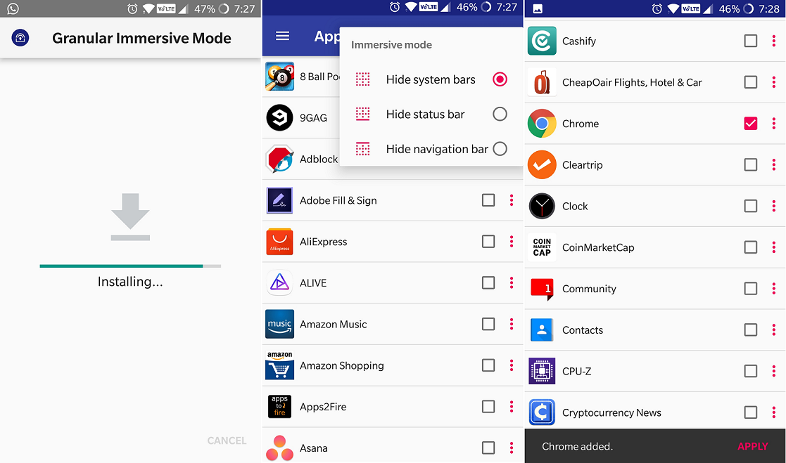 what is application navigation bar