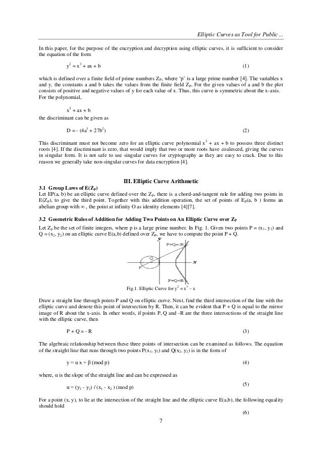 elliptic curve cryptography using applications