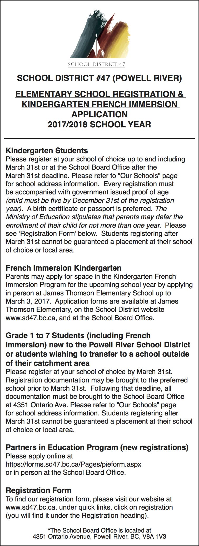 peel region french immersion application