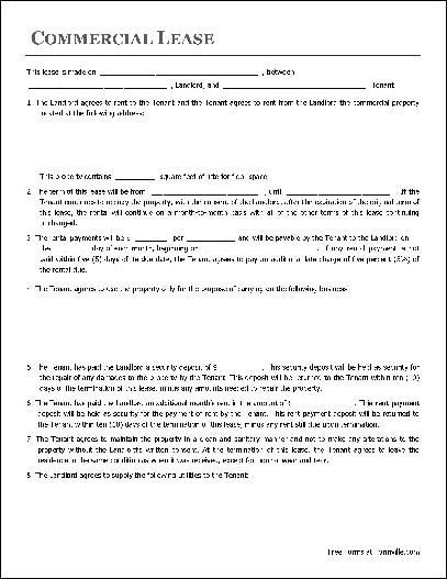 lease application for commercial property