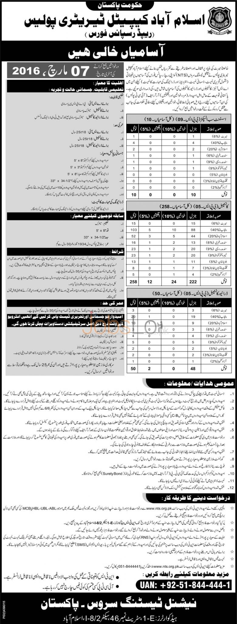 position of police constable ats application