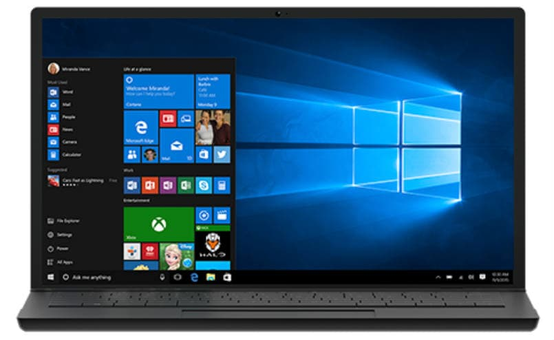 performances des applications windows 10