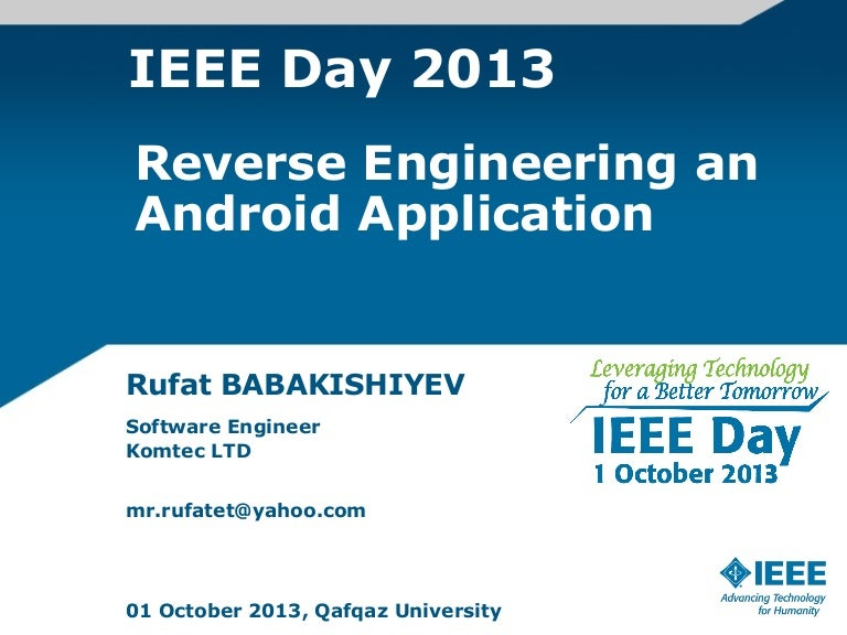 reverse engineering is an application of